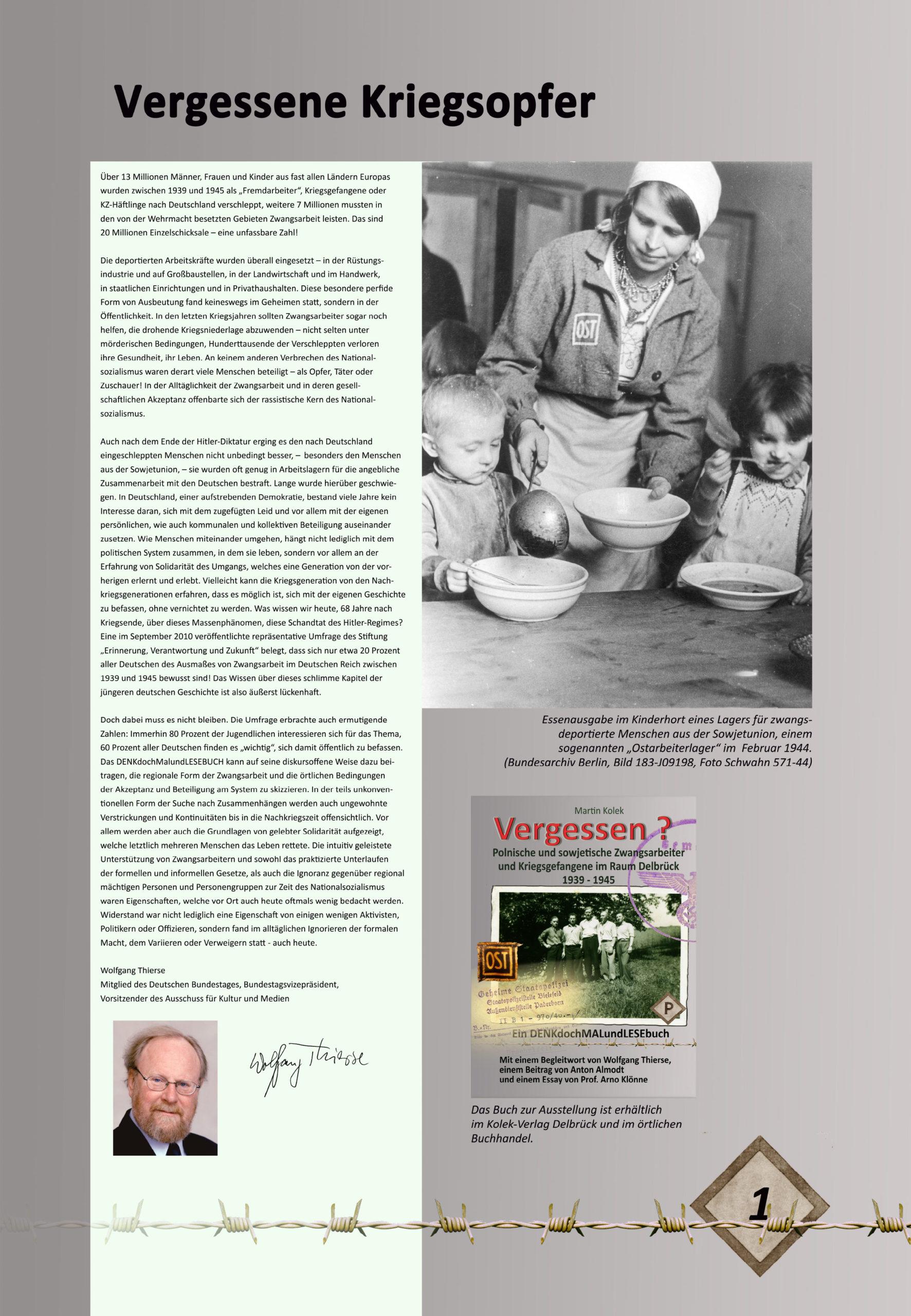 """Digitale Ausstellung """"Unter_Menschen"""" anlässlich des 75. Jahrestages der Befreiung der Kriegsgefangenen – Ausstellungstafel 1"""