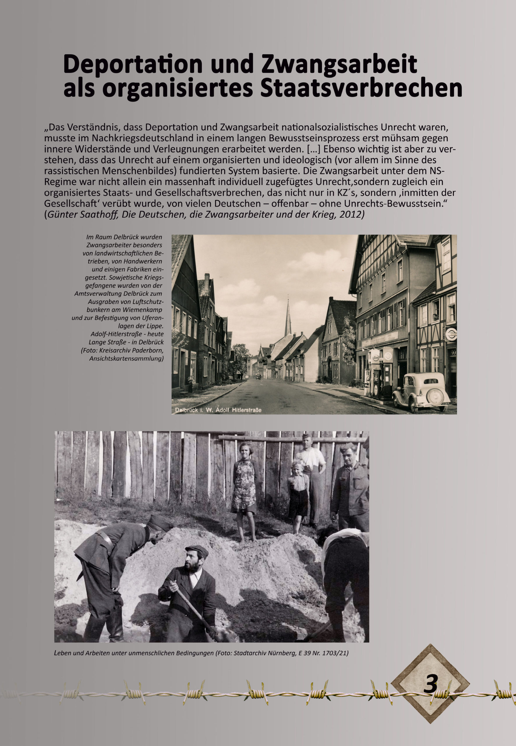 """Digitale Ausstellung """"Unter_Menschen"""" anlässlich des 75. Jahrestages der Befreiung der Kriegsgefangenen – Ausstellungstafel 3"""