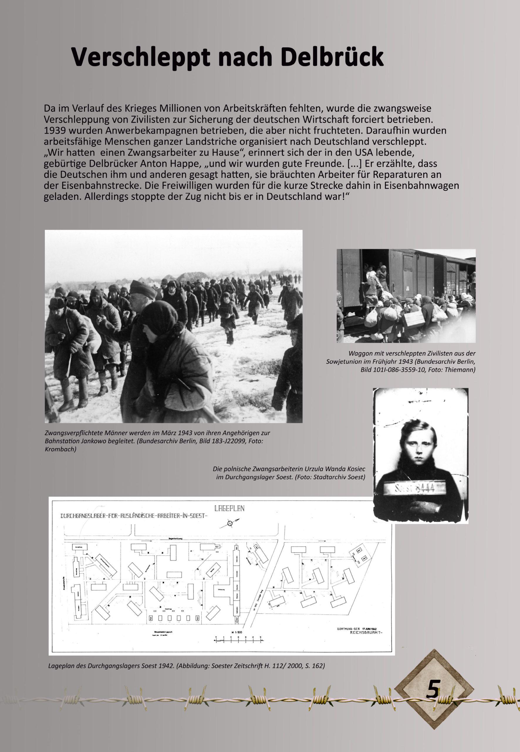 """Digitale Ausstellung """"Unter_Menschen"""" anlässlich des 75. Jahrestages der Befreiung der Kriegsgefangenen – Ausstellungstafel 5"""