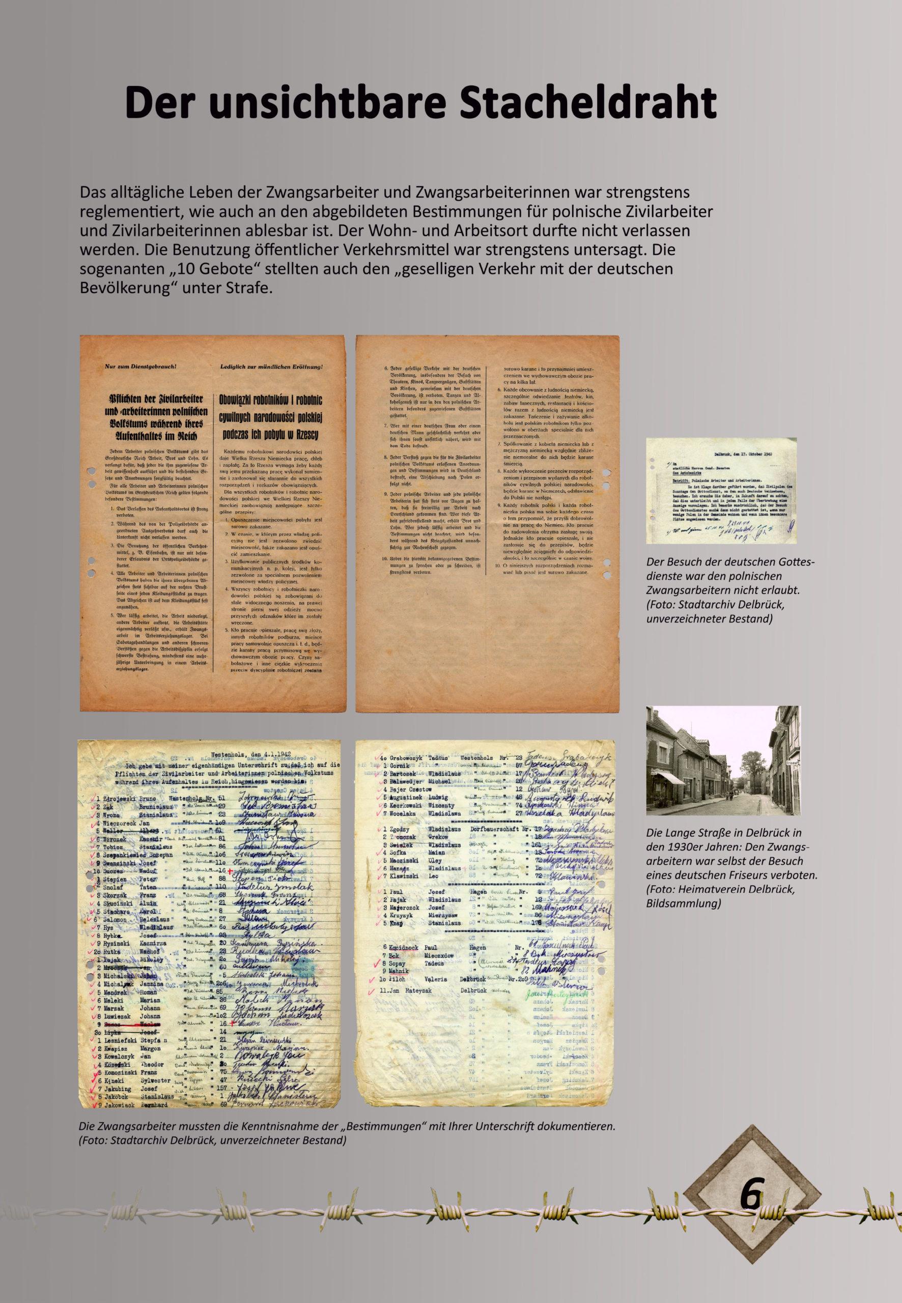 """Digitale Ausstellung """"Unter_Menschen"""" anlässlich des 75. Jahrestages der Befreiung der Kriegsgefangenen – Ausstellungstafel 6"""