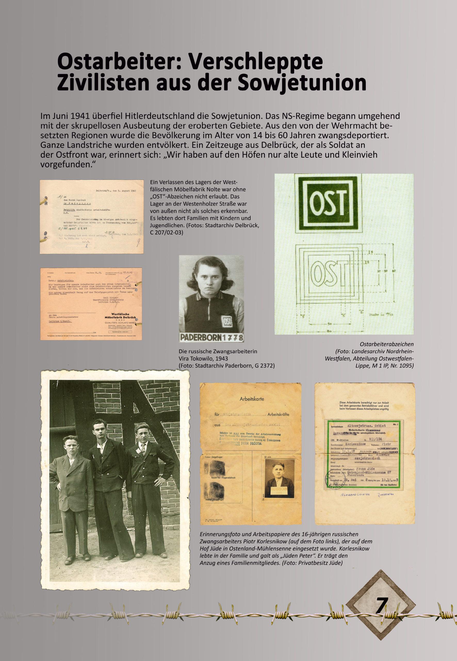 """Digitale Ausstellung """"Unter_Menschen"""" anlässlich des 75. Jahrestages der Befreiung der Kriegsgefangenen – Ausstellungstafel 7"""