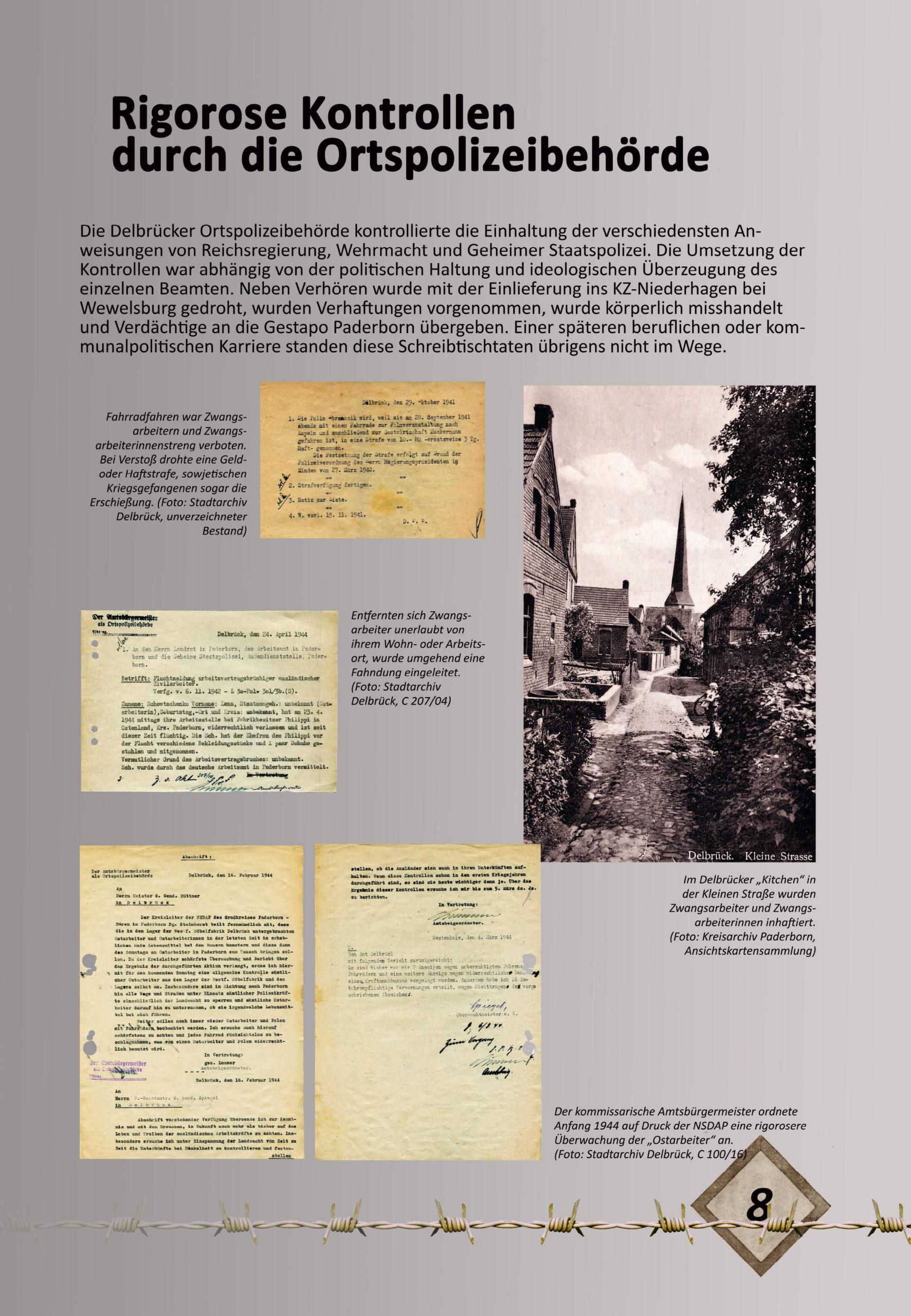 """Digitale Ausstellung """"Unter_Menschen"""" anlässlich des 75. Jahrestages der Befreiung der Kriegsgefangenen – Ausstellungstafel 8"""