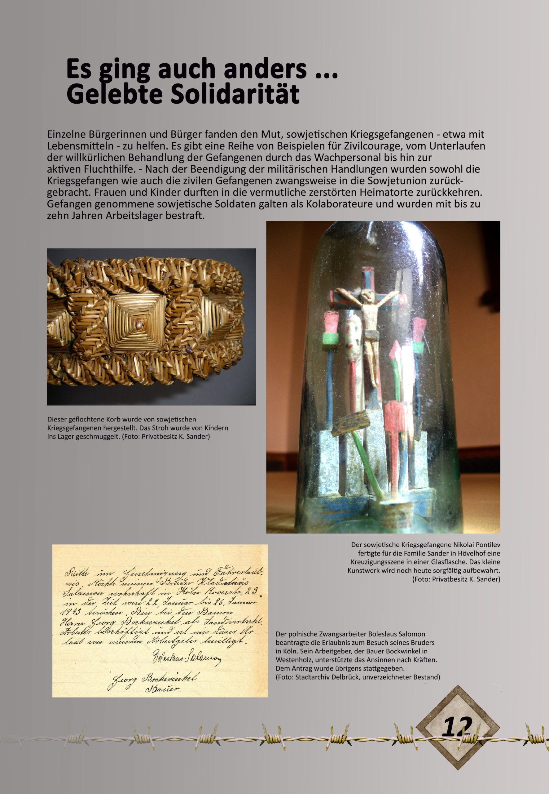"""Digitale Ausstellung """"Unter_Menschen"""" anlässlich des 75. Jahrestages der Befreiung der Kriegsgefangenen – Ausstellungstafel 12"""