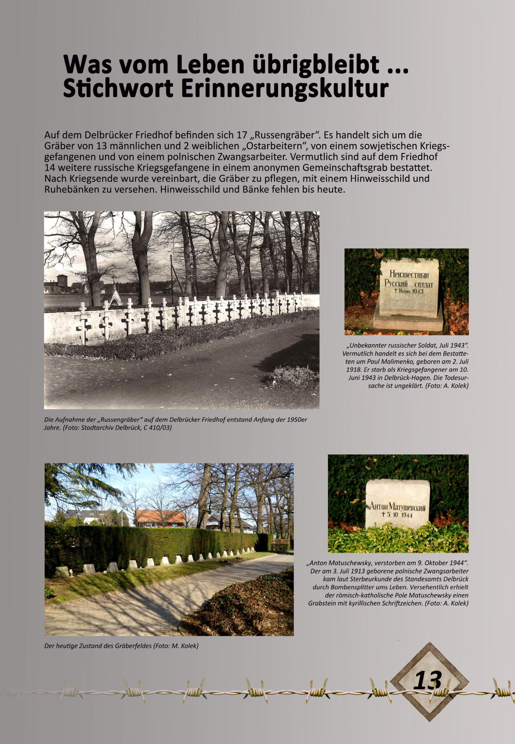 """Digitale Ausstellung """"Unter_Menschen"""" anlässlich des 75. Jahrestages der Befreiung der Kriegsgefangenen – Ausstellungstafel 13"""