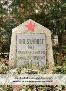 Ihr starbet mit heißgeliebten Worten – Heimat. Stalin.