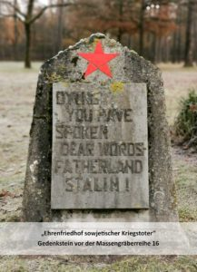 You died with truly loved words – home country. Stalin.