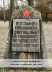 Mögen unsere Volksgenossen im ewigen Frieden ruhen! Ihre Grabhügel werden über Jahrhunderte hinaus an die finstere Zeit der Hitlerherrschaft erinnern.