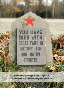 You died truly believing in the victory of your country.