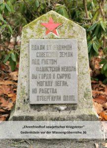 Weit von der Sowjetischen Heimat habt ihr stolz einen kalten Boden gewählt statt als Sklave zu leben.
